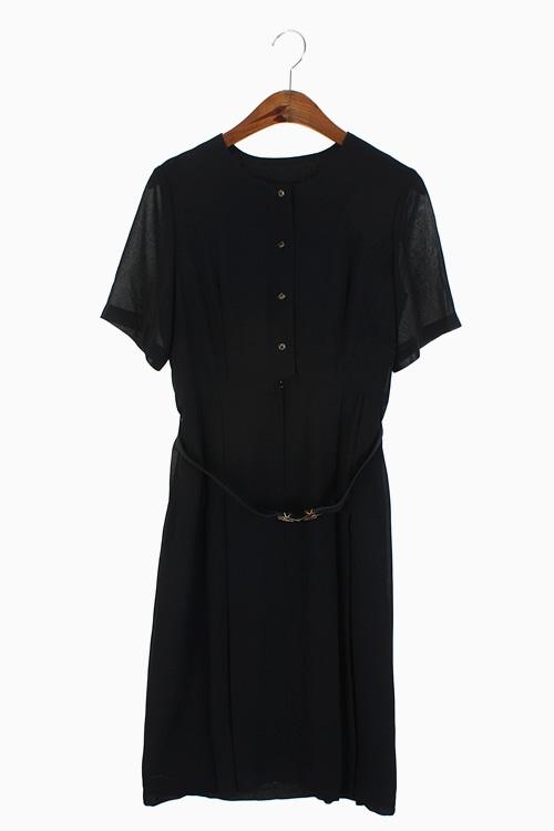 VINTAGE BELTED DRESS 리가먼트