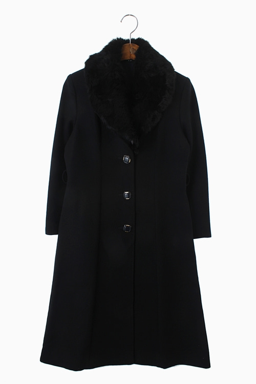 MUSKRAT FUR WOOL COAT 리가먼트