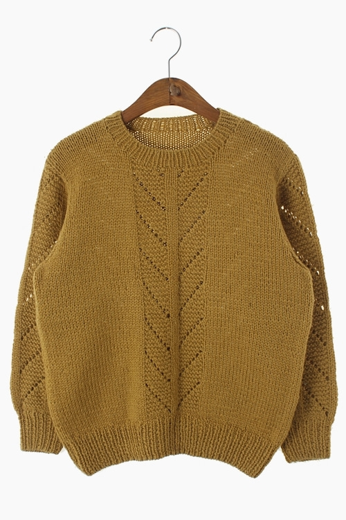JAPAN HAND-MADE WOOL KNIT TOP 리가먼트