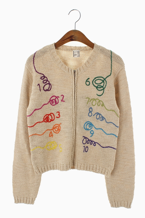 EMBROIDERY POINT WOOL KNIT TOP 리가먼트