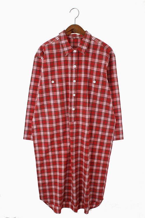 PULL OVER COTTON CHECK DRESS 리가먼트