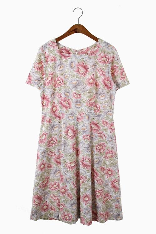 ROMANTIC FLORAL COTTON DRESS 리가먼트