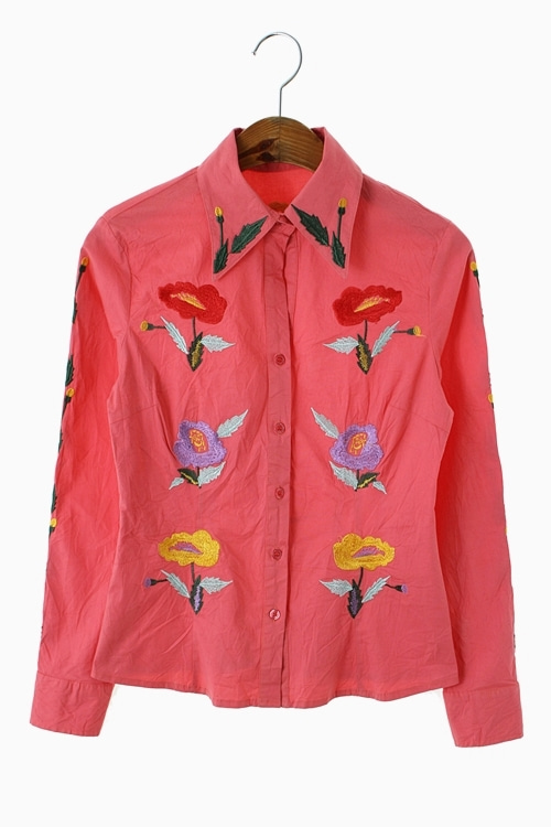 FLORAL EMBROIDERY SHIRTS 리가먼트