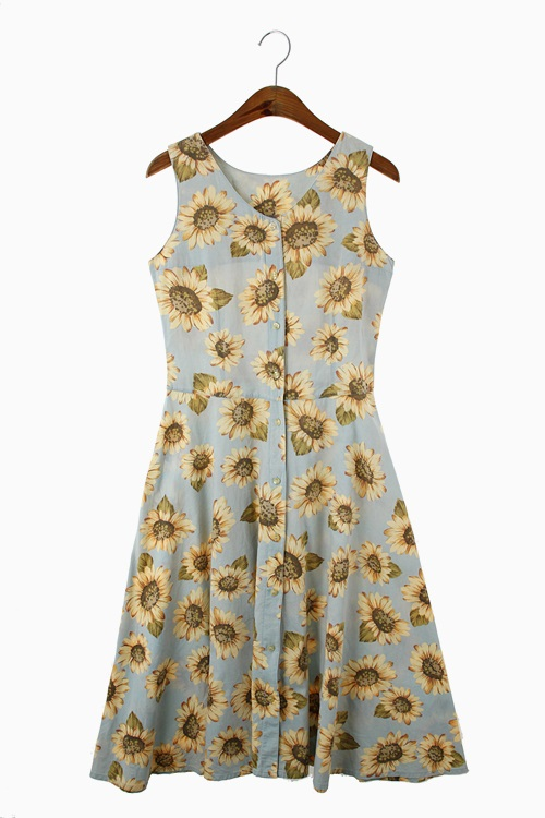 FLORAL COTTON DRESS 리가먼트