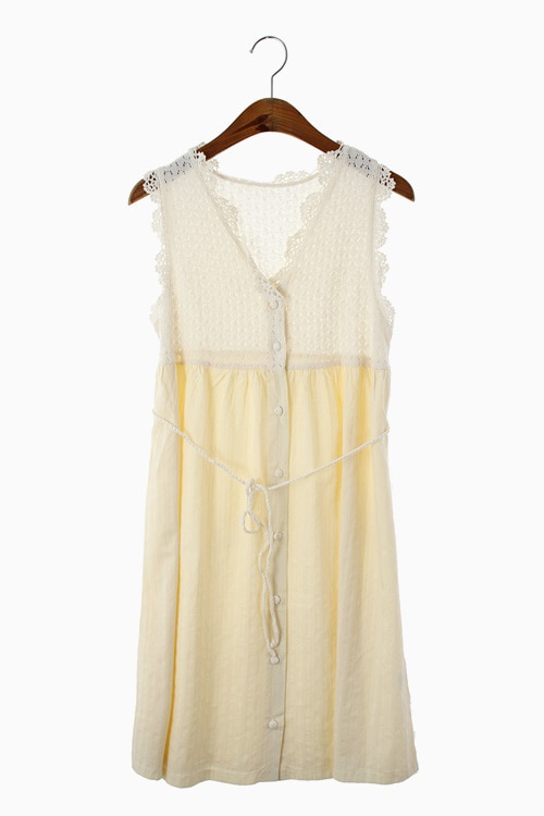 COTTON&LINEN MIX FABRIC DRESS 리가먼트