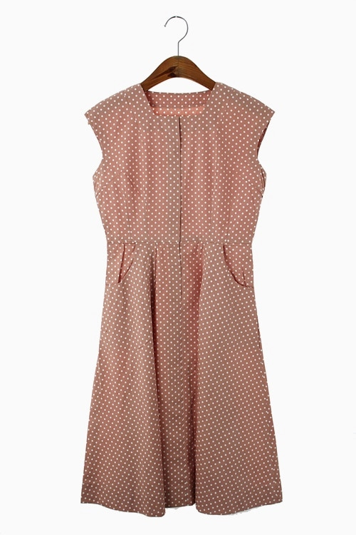 COTTON DOT PATTERN DRESS 리가먼트