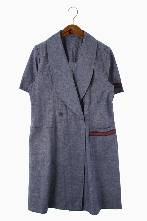 LINEN BLEND CHAMBRAY COAT 리가먼트