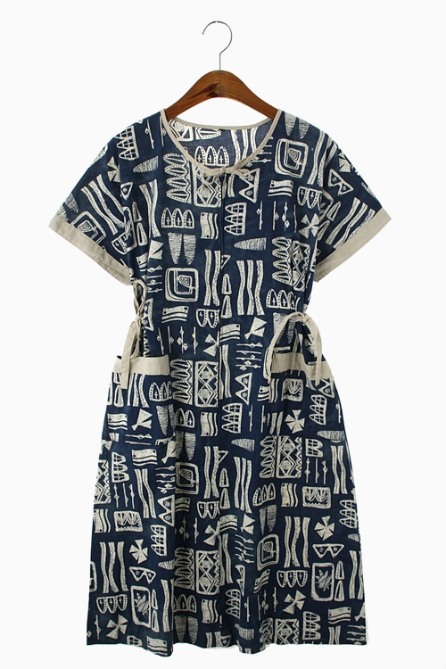 PATTERN PURE COTTON DRESS 리가먼트