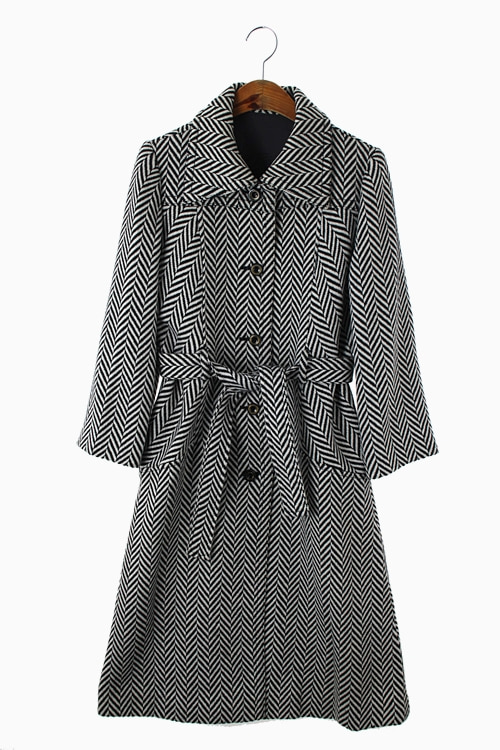 TWILL PATTERN WOOL COAT 리가먼트