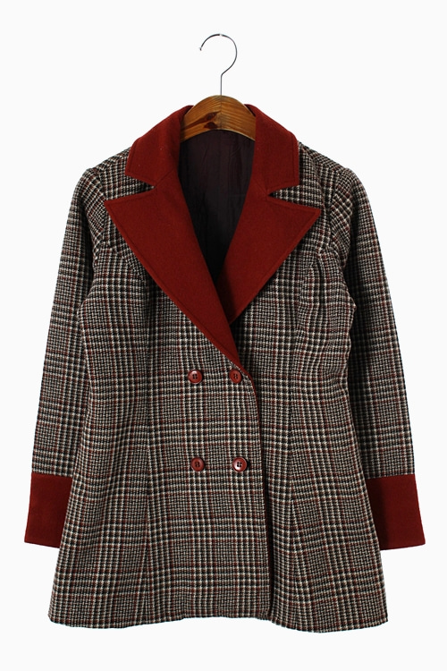 WOOL CHECK DOUBLE JACKET 리가먼트