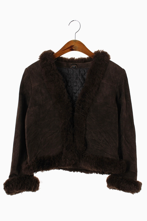 SHEEP FUR TRIM SUEDE LEATHER JACKET 리가먼트