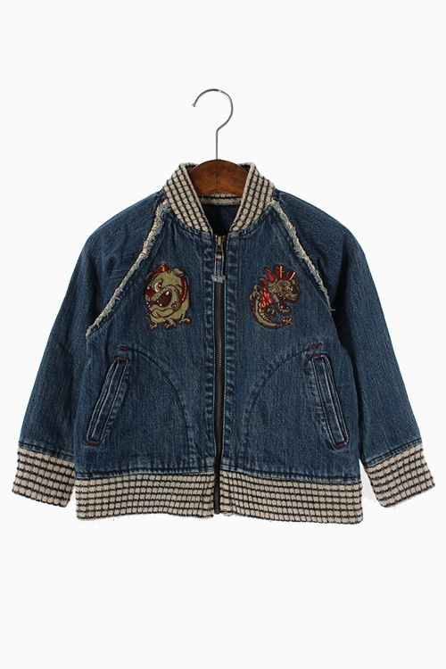 EMBROIDERY DENIM JACKET 리가먼트