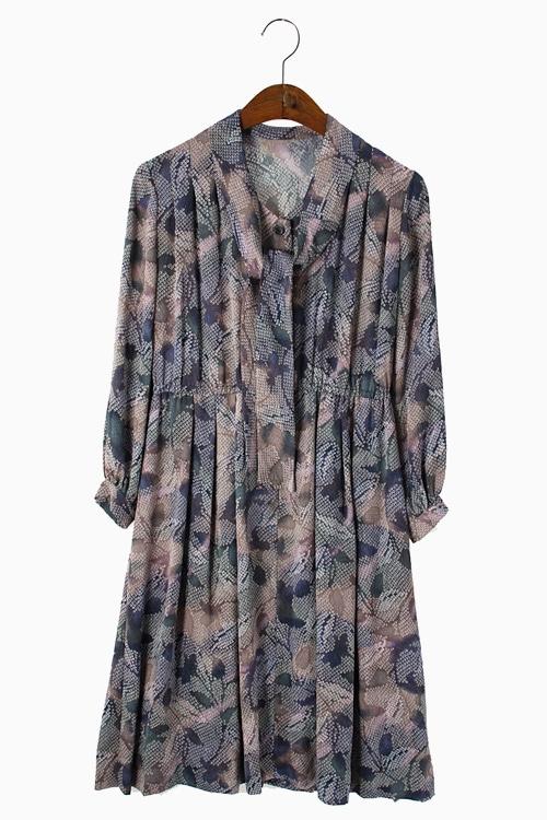 HAND-MADE FLORAL DRESS 리가먼트