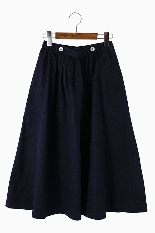 COTTON DENIM SKIRT 리가먼트