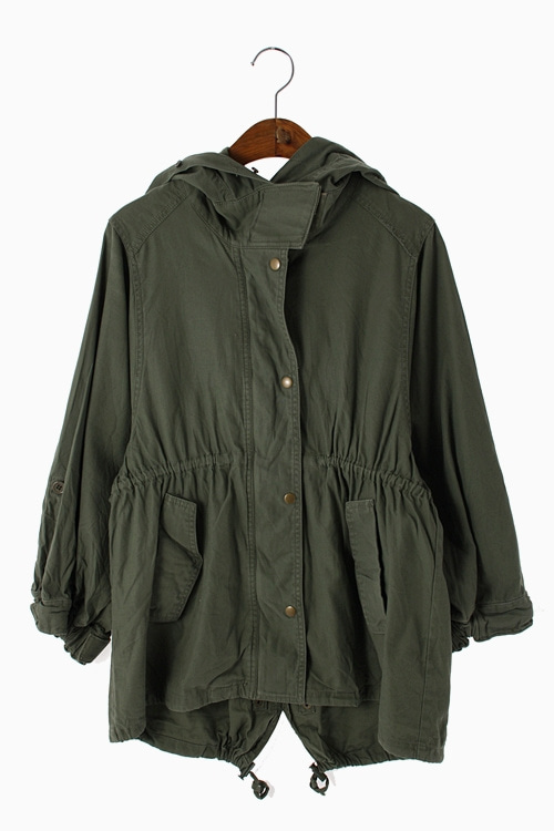 FISHTAIL COTTON JACKET 리가먼트