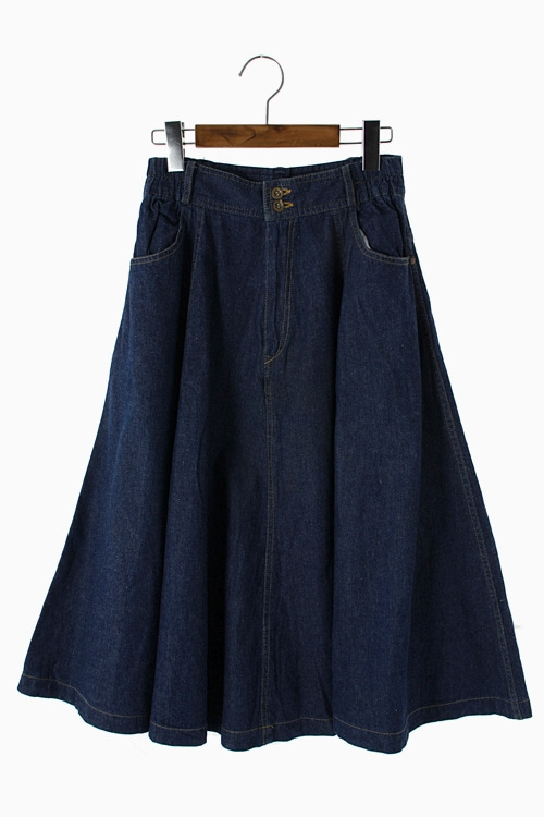 PURE COTTON DENIM SKIRT 리가먼트