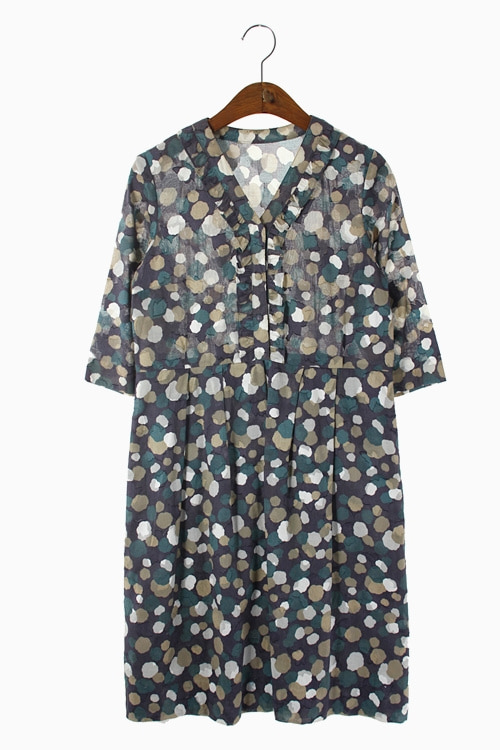 JAPAN HAND-MADE COTTON DRESS 리가먼트