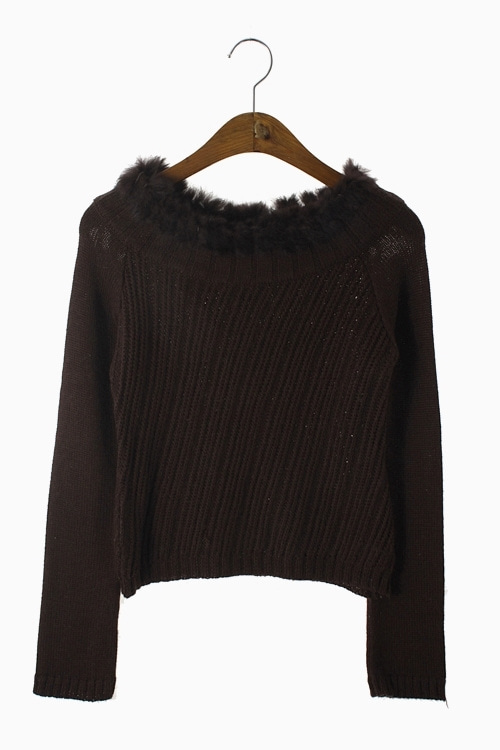 RABBIT FUR KNIT TOP 리가먼트