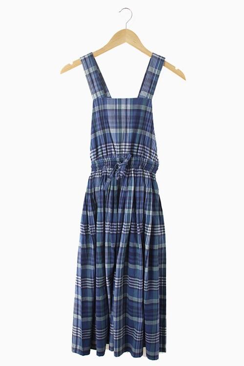 COTTON CHECK DRESS 리가먼트
