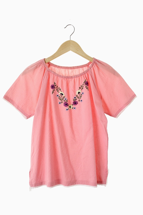 EMBROIDERY COTTON BLOUSE 리가먼트