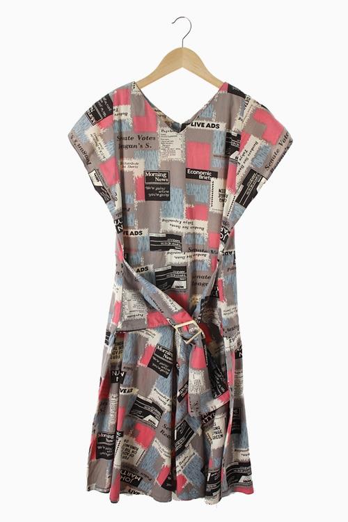 COTTON PATTERN DRESS 리가먼트