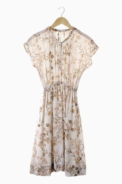 FLORAL POLY DRESS 리가먼트