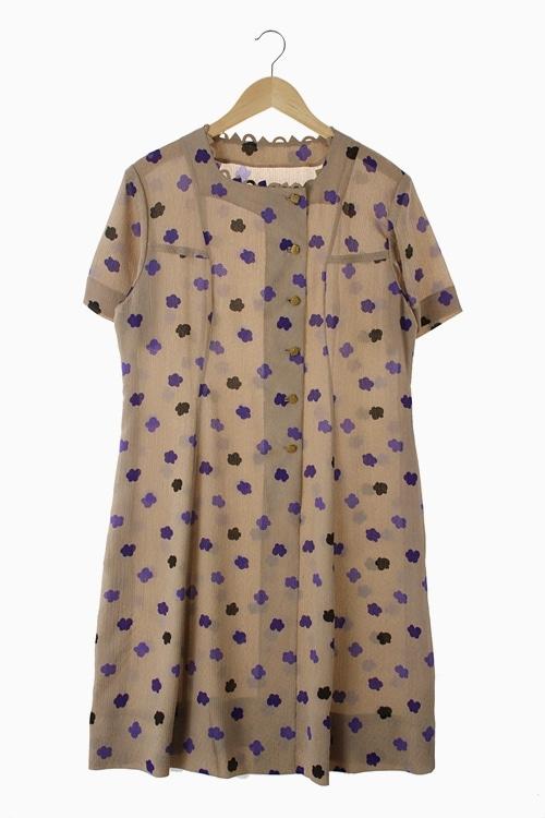 RETRO PATTERN DRESS 리가먼트